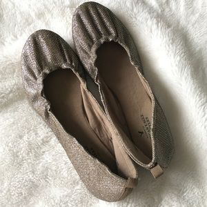 American Eagle Outfitters Gold Sparkle Ballet Flat